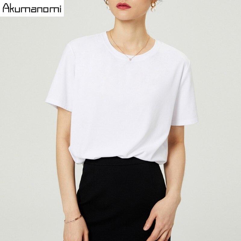 Летняя хлопковая Футболка для женщин, 2019, высокое качество, большой размер 7XL, Круглый ворот, короткий рукав, черный, серый, белый, чехол для телефона, Camiseta Mujer