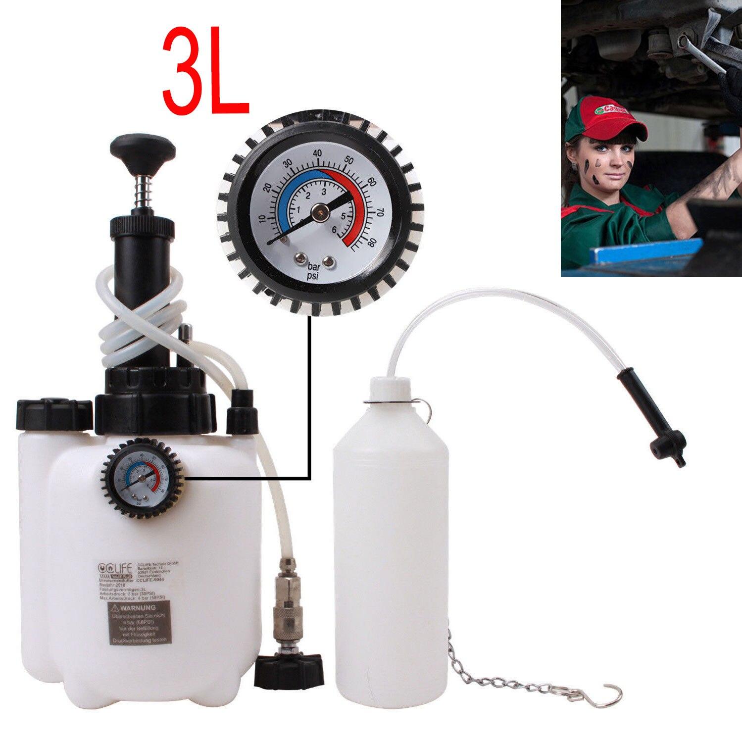 3L purgador de frenos 40-58 PSI robusto Kit de purga de líquido de frenos Kit de repuesto automático para el cuidado del motor Kits de líquido de purga