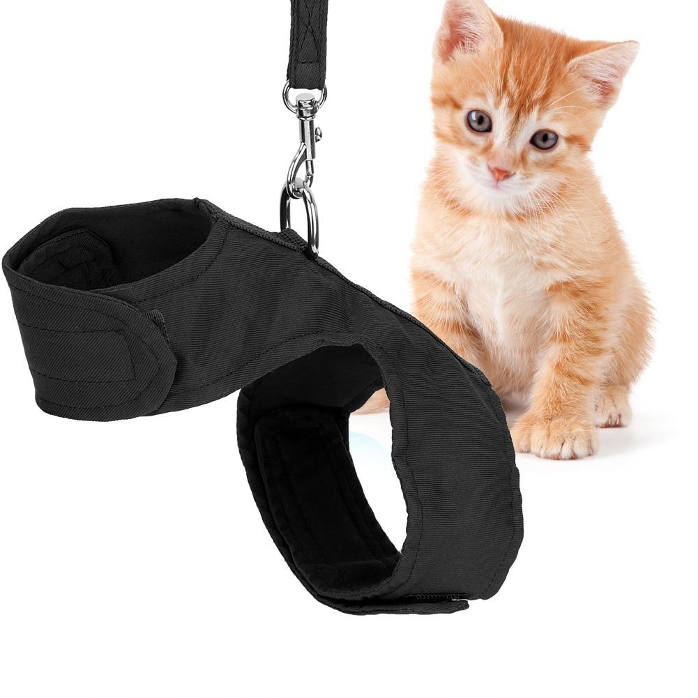 Arnés para mascota de gato ajustable en 2 colores con correa estilo británico chaqueta arnés para gato entrenamiento para caminar correas de agarre de mano