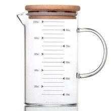 Tasse à mesurer en verre Borosilicate 33.81oz   Résistant à la chaleur, gobelet Transparent, gobelet à café au lait, tasse à micro-ondes, tasse en verre pour la cuisson