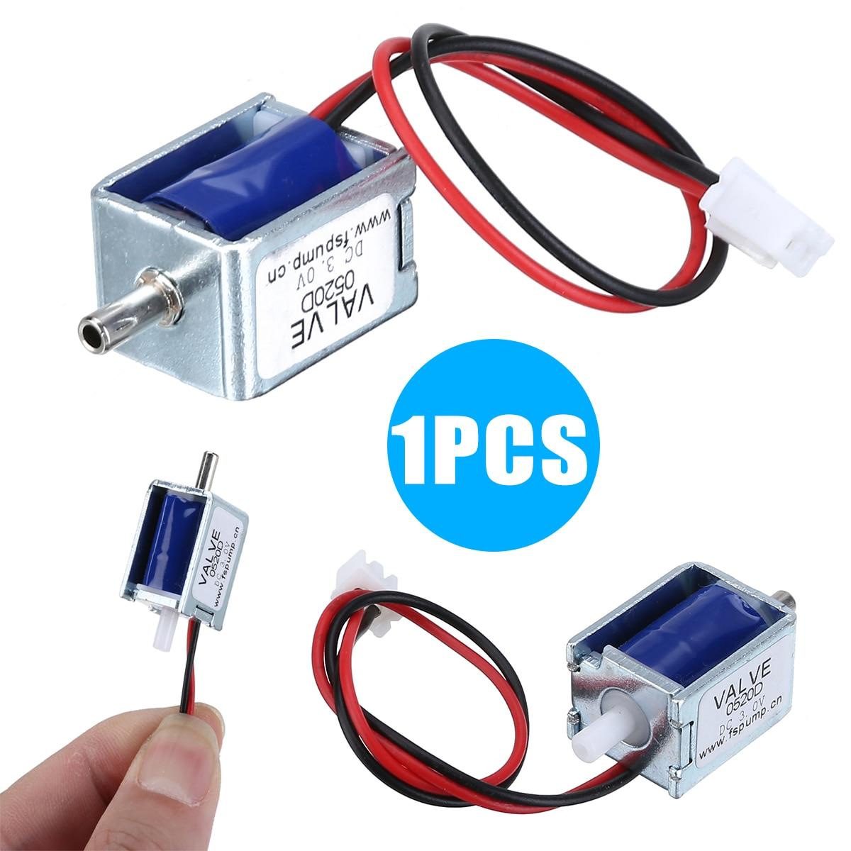 1 Uds. De alta calidad DC 3V Mini válvula de solenoide CC eléctrica N/C normalmente cerrada para válvula de aire de Gas para herramientas de alimentación accesorios nuevos