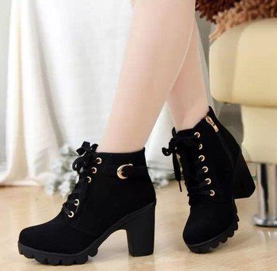 Femininas de Alta Sapatos de Couro Botas de Moda Novo Outono Inverno Botas Qualidade Sólida Rendas-up Europeu Senhoras Tamanho 35-41 2021
