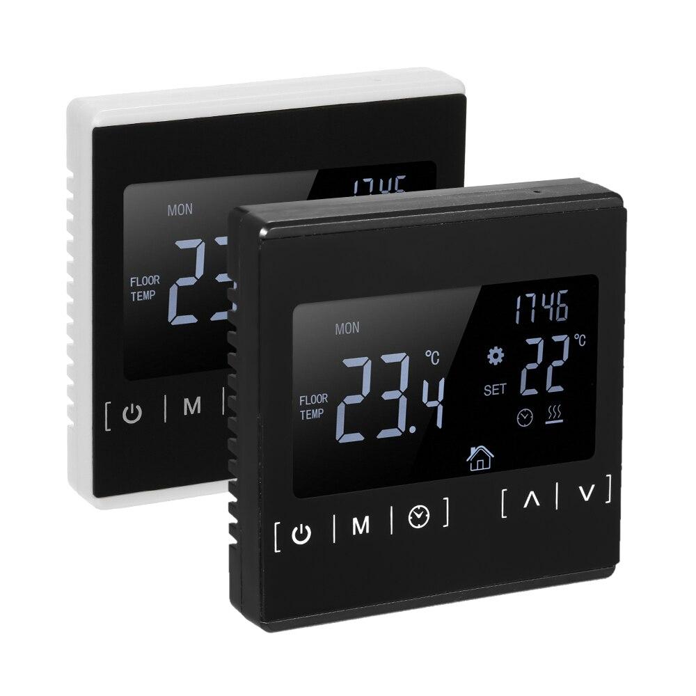 Термостат с сенсорным ЖК-экраном электрическая система подогрева пола терморегулятор для нагрева воды AC85-240V регулятор температуры