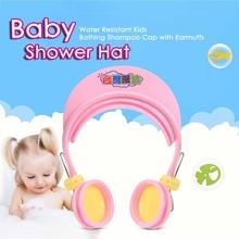 Chapeau de douche pour bébé   De haute qualité avec oreillettes, shampooing réglable pour bambins, bonnet de douche pour la plage, soins pour bébés