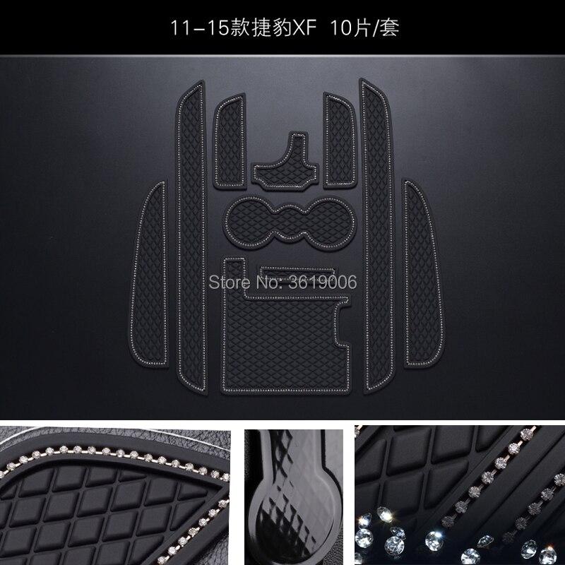 TOMMIA para Jaguar XF 11-15 ranura para puerta Interior antideslizante alfombrilla de...
