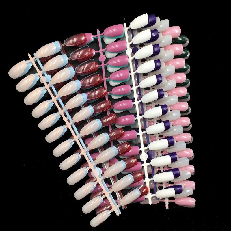 Juego de 24 Uds de uñas postizas de Color sólido y puro para decoración de uñas artísticas, elija el Color de la Cabeza Cuadrada mediana, bailarina que cubre la punta de uña falsa, herramienta de 10 Uds.