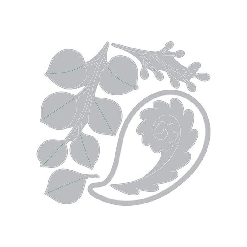 Troqueles de corte metálicos de eucalipto y floración, plantilla DIY de sello transparente para álbum de recortes, tarjetas de papel fotográfico, decoración artesanal, nuevo