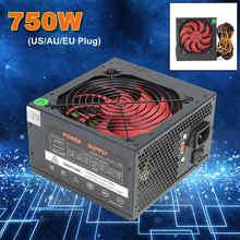 750W zasilacz ATX 12V komputer do gier zasilacz 24Pin/PCI/SATA/ATX 700 Walt 12CM wentylator nowy zasilacz do komputera dla BTC