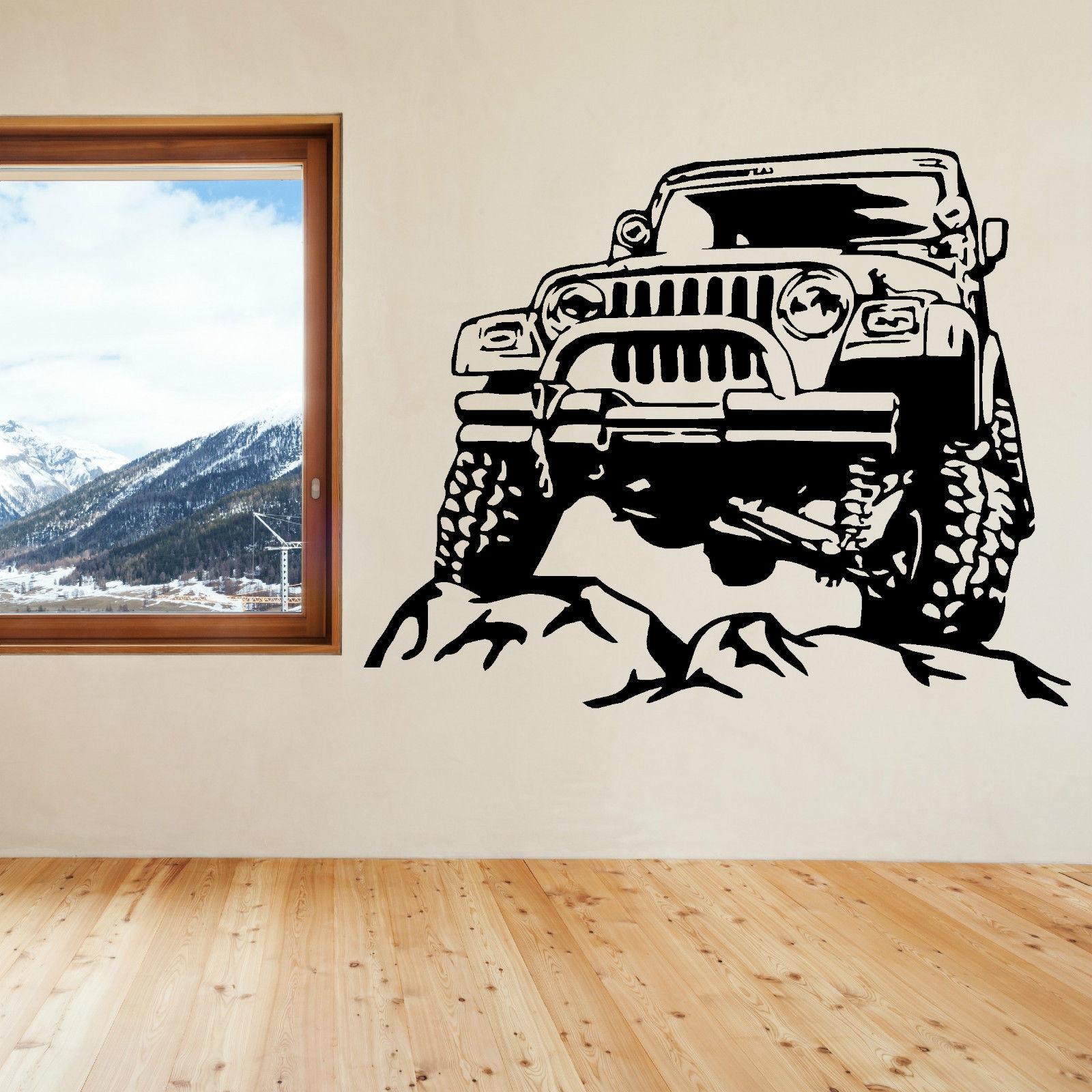 JEEP arte de pared removible vinilo etiqueta engomada etiqueta envío gratuito