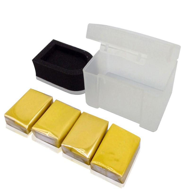 Magic Clay Bar Car Wash Tools 4pcs with Sponge Applicator Auto Cleaner Car Detailing Clay Bar Marflo Paint Care Eraser