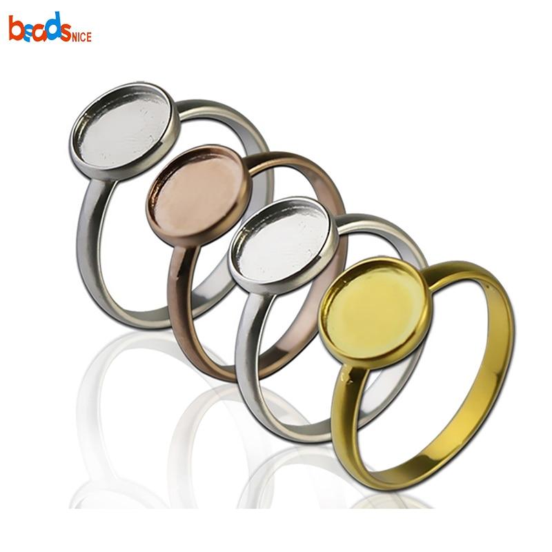 Beadsnice 925 Ajuste Do Anel De Prata Esterlina Em Branco Artesanal Diy Suprimentos Jóias tamanho do anel EUA 7 ID26604