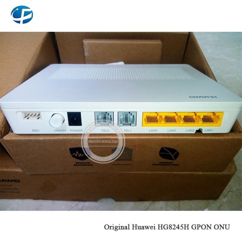 ¡Caliente! Envío Gratis 5 uds HG8245H GPON ONU con 4GE + 2 puertos + Voz + wifi fibra óptica ONU, reducción de precio