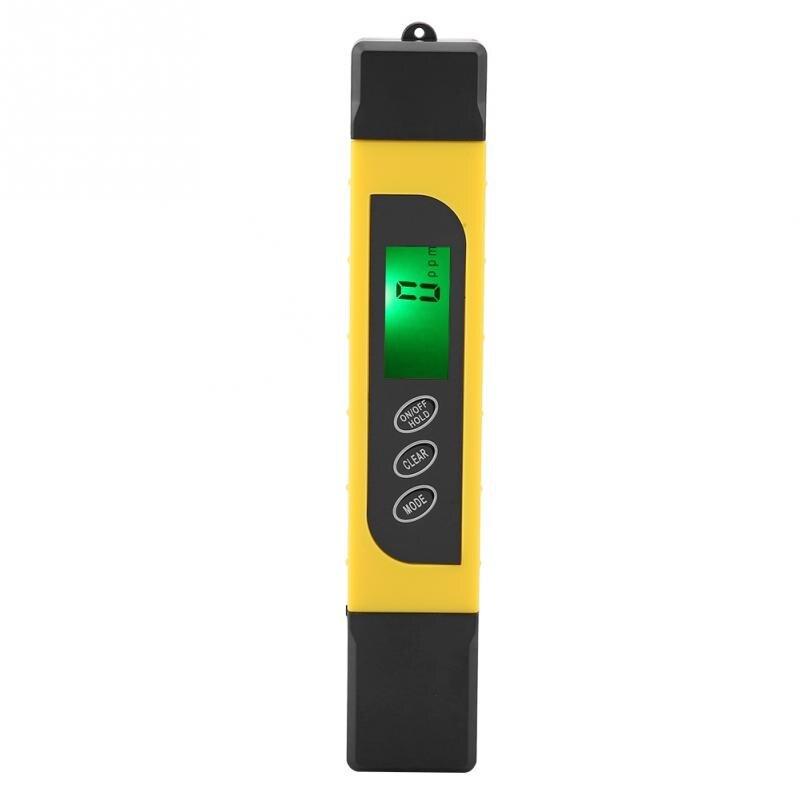 3 em 1 display lcd digital testador de qualidade água total dissolvido sólidos medidor pureza testador água 4999ppm