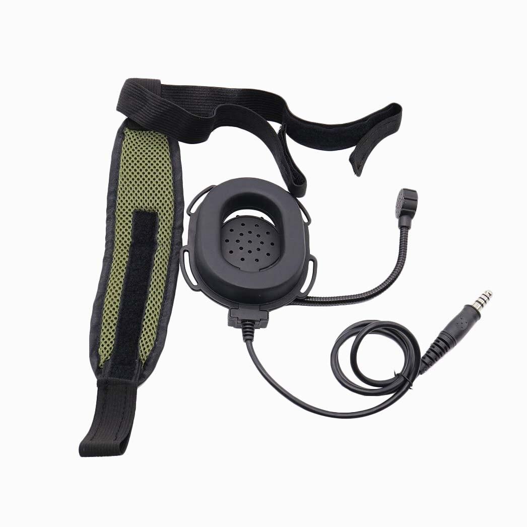 MOCH-Z pesado del Ejercito de servicio pesado Bowman Elite II Hd03 auriculares con impermeable Ptt derecha/oreja izquierda Para Kenwood $TERM impacto Baofeng UV-5R GT-3