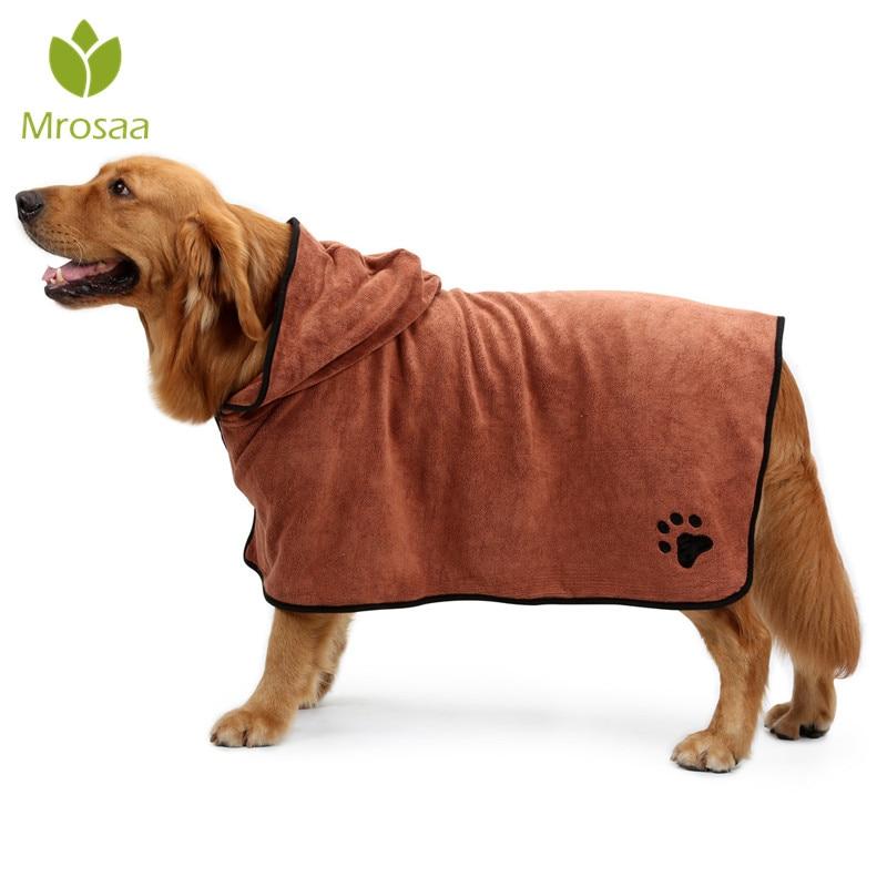 Albornoz para perros XS-XL Toalla de baño para perros pequeños medianos grandes 400g Toalla de secado súper absorbente para mascotas productos para mascotas