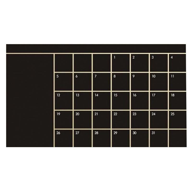 92*60 centímetros Mês Calendário Blackboard Planner Removível Decalques de Vinil Adesivos de Parede Quadro Negro Escritório Escola Suprimentos