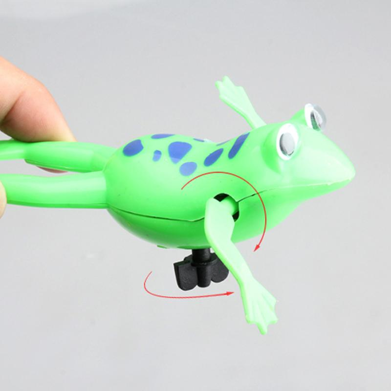 Детская игрушка для ванной заводная пластиковая плавающая Лягушка на батарейках для ванны для бассейна для детей Детская забавная Ванна