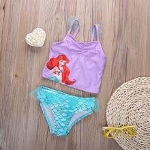 Cute Swimwear Kids Swimming Bikinis Set Two Pieces Baby Girls Bathing Suit Children Purpel Sequined Swimsuit