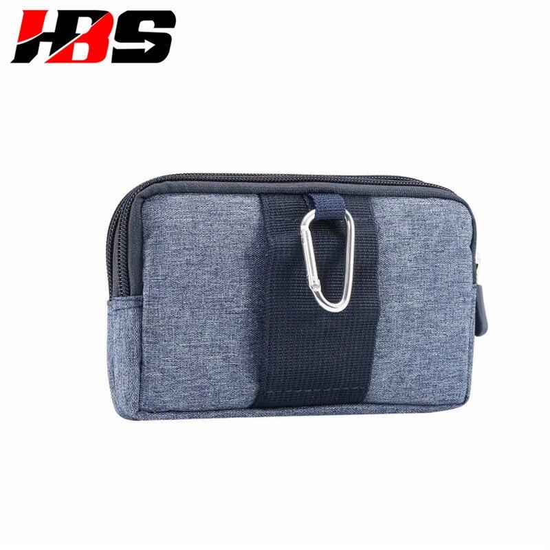 Funda para Huawei P6 de teléfono P7 P8 P9 P10 Lite Plus P20 tela de mezclilla bolsa de gancho con cinturón bolsa de bolsillo bolsillos dobles