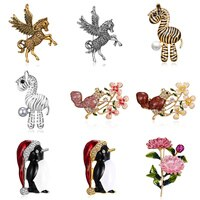 RINHOO Enamel Squirrel Climbing Tree Brooches Weddings Banquet Brooch For Women And Men Christmas Gifts