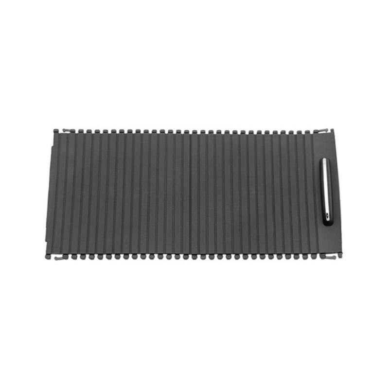 Cubierta de la consola central Interior del coche, reposamanos de reemplazo de persiana enrollable deslizante para Clase C W204 S204 Clase E W212 S212 negro