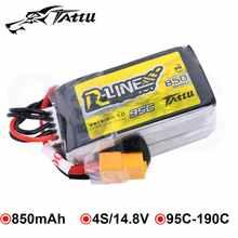 Tattu RLine 850mAh 4S Battery 14.8V 95C LiPo-Akku XT30 XT60 Plug RC Power for FPV Drone 150 Racing Multirotor Quadcopter Frame
