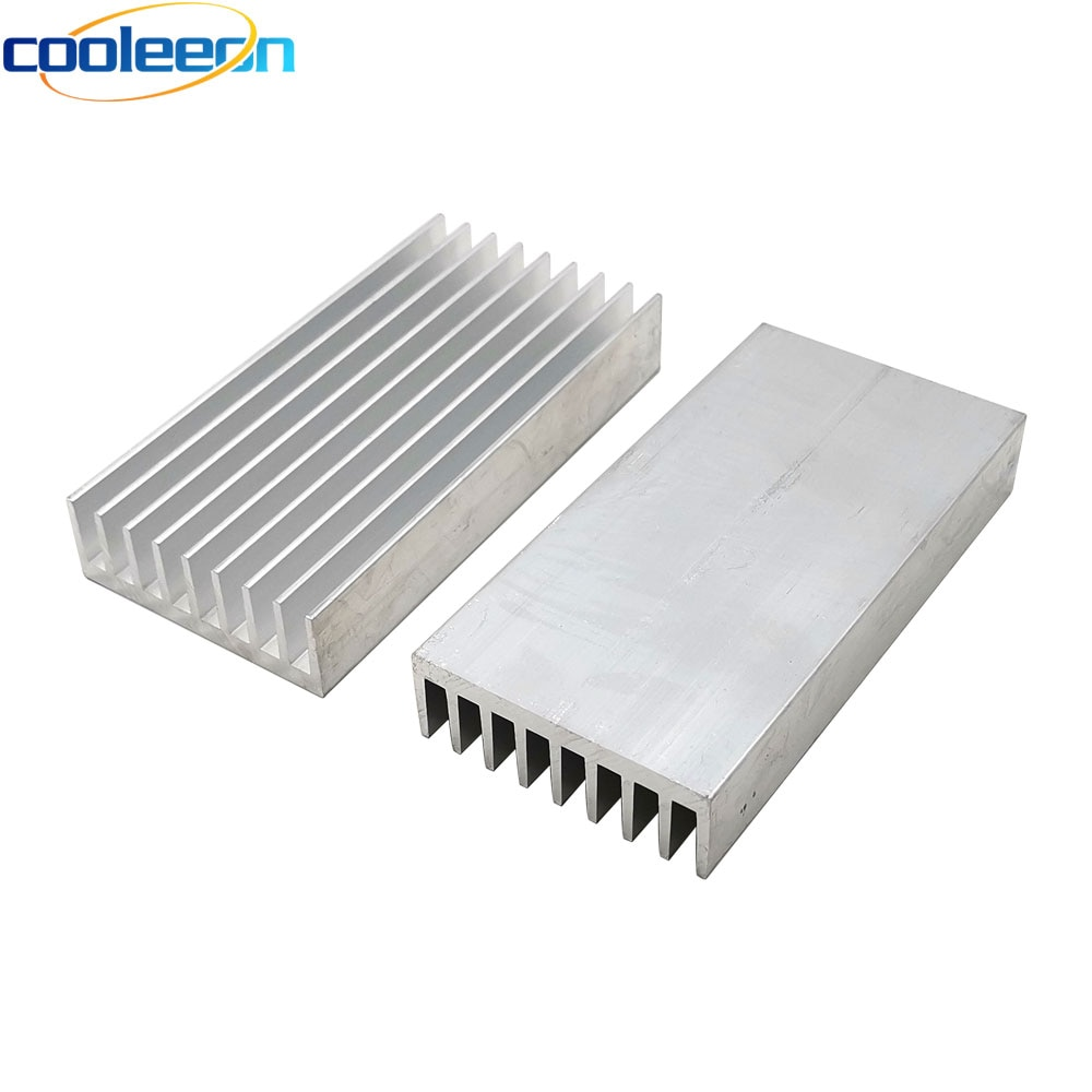 2PCS 100x50x17mm אלומיניום צלעות קירור קירור לוח עבור LED אור מנורת גבוהה תרמית מוליכות LED רדיאטור אלקטרוניקה Heatsinks