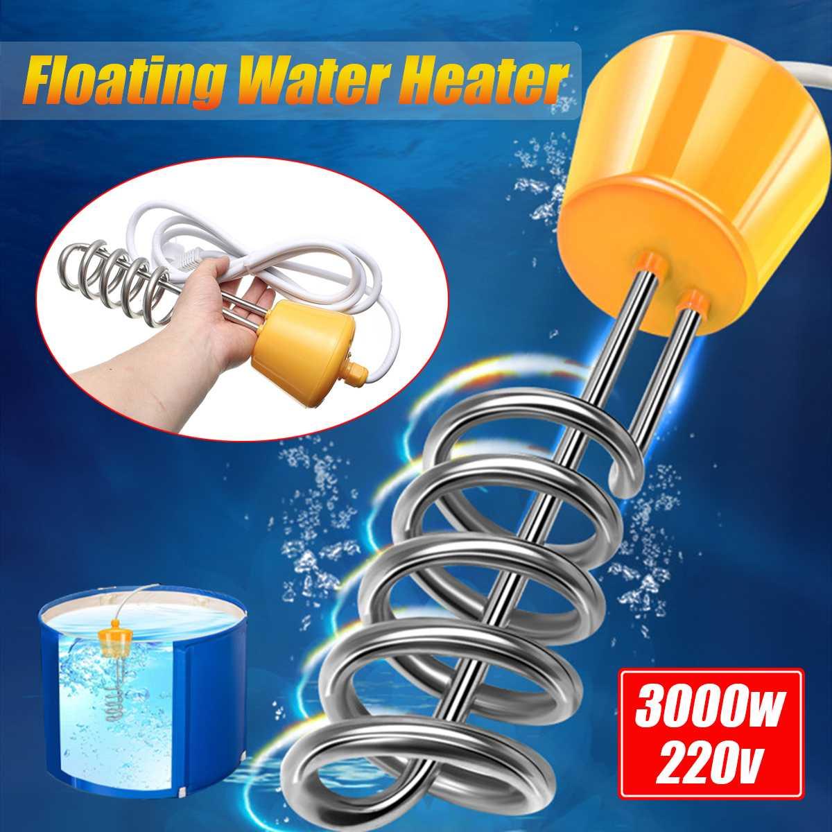 3000 Вт водонагреватель элемент бойлер Ванна портативная подвеска электрическое погружение для надувной ванны путешествия Кемпинг плавательный бассейн