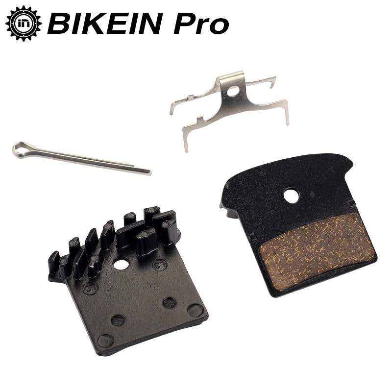 Almohadillas para frenos de disco de bicicleta de montaña, para Shimano M988 M985 XT/TR M785/ SLX M666 M675/ Deore M615/ Alfine S700, con aletas de refrigeración, 2 uds.