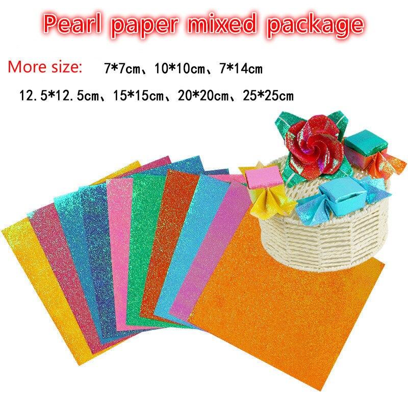 Больше размеров 80 г a4 цветные бумажные наклейки DIY, бумажные крановые бумажные складные блестящие бумажные наклейки, романтический альбом ...