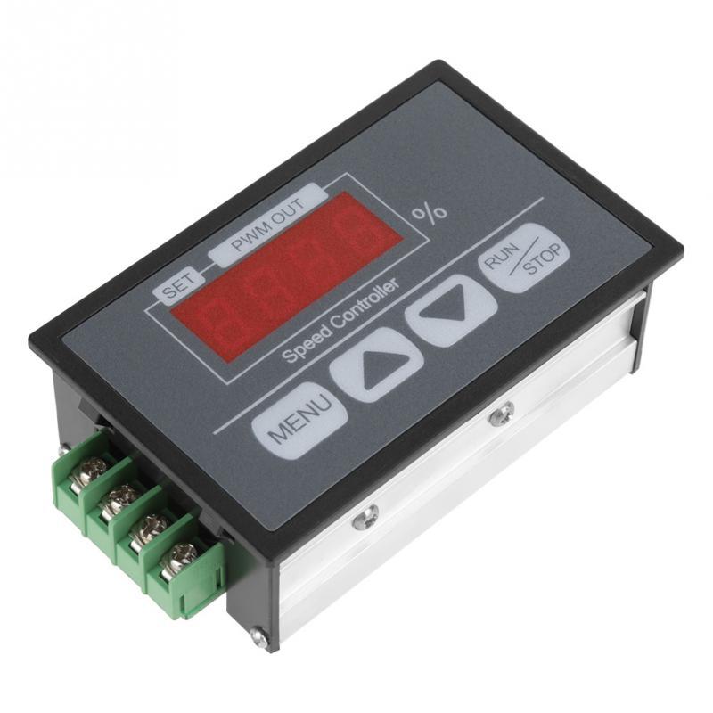 6-60 V Percentual Display Digital Tacômetro DC Controlador de Velocidade Lenta Do Motor Iniciar e Parar