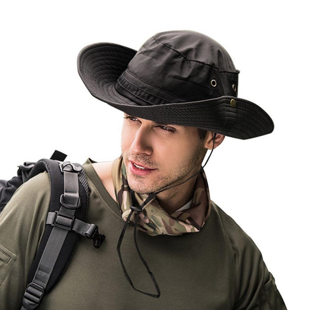 Шляпа от солнца Boonie, камуфляжная Панама в стиле милитари для мужчин и женщин на лето 2018