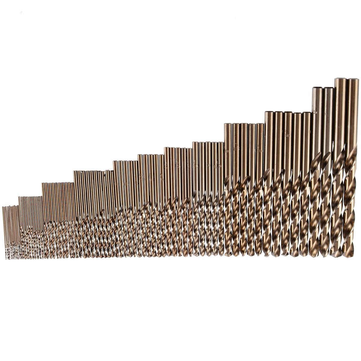 74 قطعة/الوحدة 1-8 مللي متر HSS تويست لقم الكوبالت كله الأرض المعادن مخرطة عالية قوة الحفر أداة للصلب الحديد الألومنيوم أنابيب