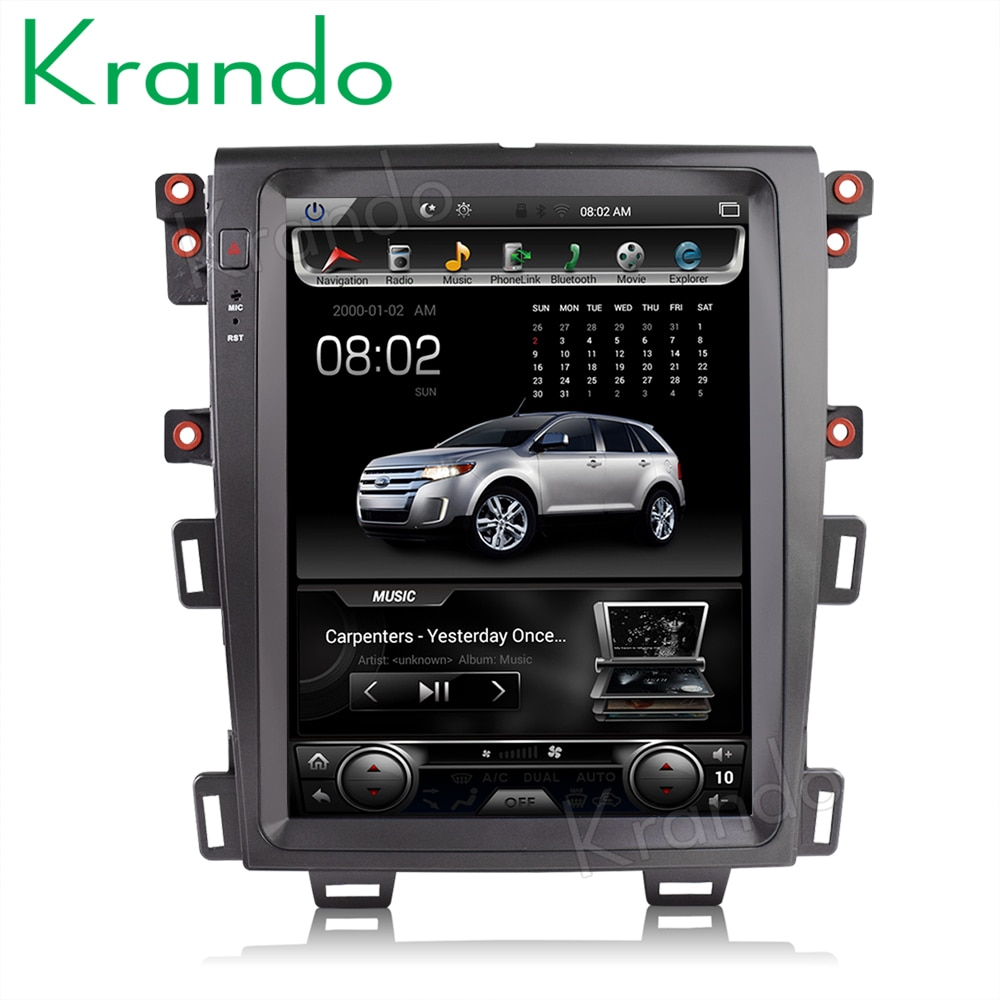 "Krando auto radio gps für FORD EDGE 2009-2014 android 8.1 12.1 ""tesla Vertikale Bildschirm navigation multimedia system wifi A/C BT"