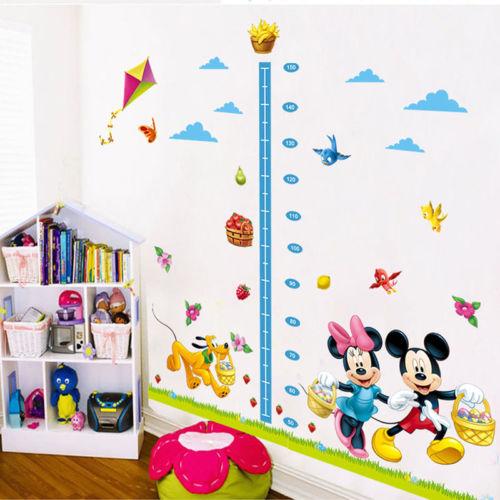 Tabla de Medidas de crecimiento de altura para niños adhesivo pared ratón decoración arte infantil PVC