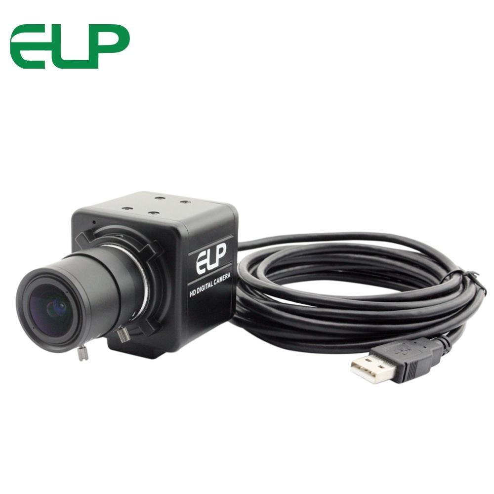 Cámara Web de 3840x2880 de 13 megapíxeles con USB, lente de 2,8-12mm Varifocus, cámara Web, ordenador portátil y PC