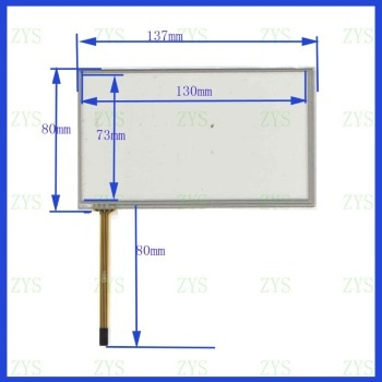 ZhiYuSun POST 5.4 touch screen for PIONEER TPM5801 NEW GLASS  for  GPS touch  free  shipping   136*81