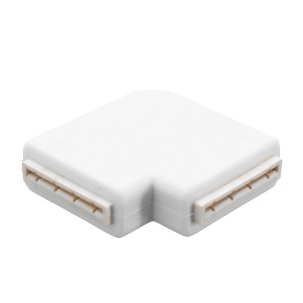 CLAITE Solderless 4 Pin 10 мм l-образный светодиодный разъем для подключения углов под прямым углом 3528 2811 2812 5050 RGB светодиодная лента