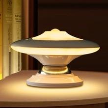 Bedroom Light Ufo 360 Degree Wireless Rotation Pir Motion Sensor Light Control Led Ufo Nightlight Wall Lamp Usb Charging