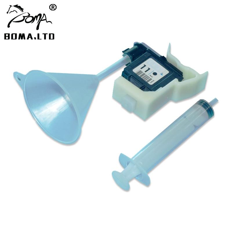 CHAUD!! Kit de nettoyage de tête dimpression nettoyant à jet dencre pour HP 11 84 85 outils de recharge dencre pour imprimante HP 100/110/111/500/510/800/813/850/130