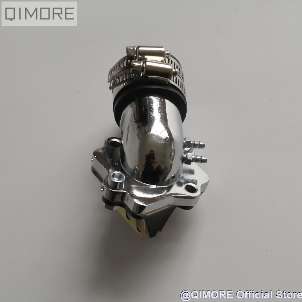 Производительность впускной коллектор с тростниковым клапаном для 2-х тактных скутеров мопедов Minarelli JOG 50 90 3KJ 4DM 1E40QMB 1E50QMF Vento ZIP