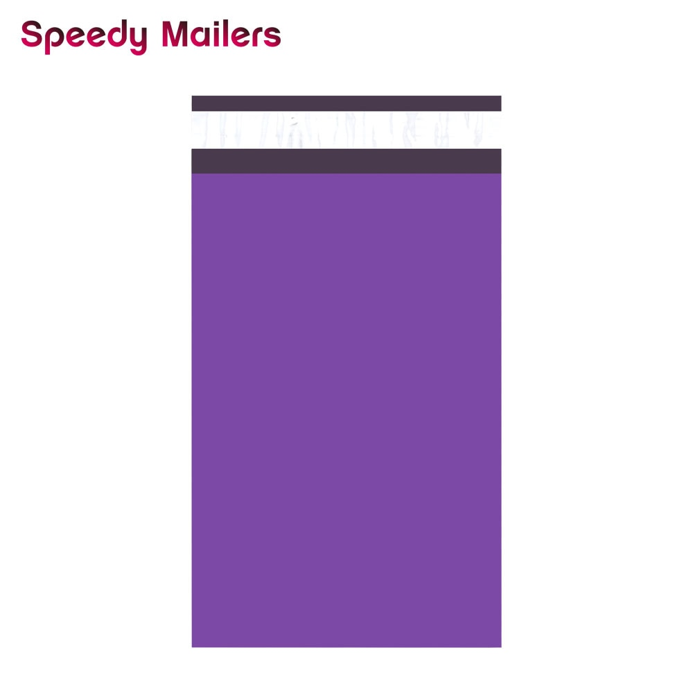 Speedy Mailers 100PCS 6x9inch 150*230mm Colorful Poly Mailer Purple Self Seal Plastic Shipping Envelope Bags
