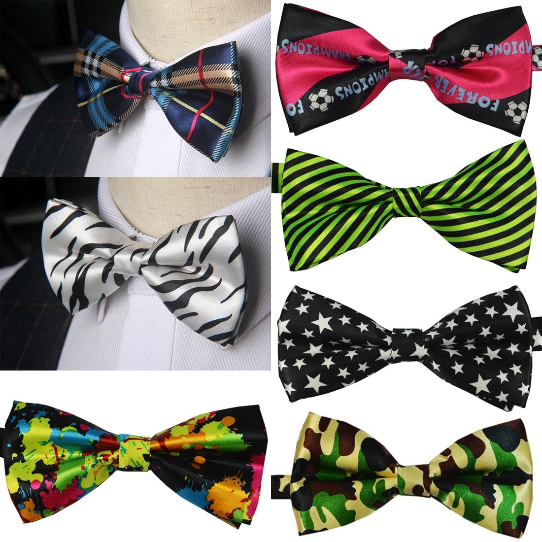 Sale 1PC Gentleman Men Classic Satin Bowtie Necktie For Wedding Party Adjustable Bow tie knot