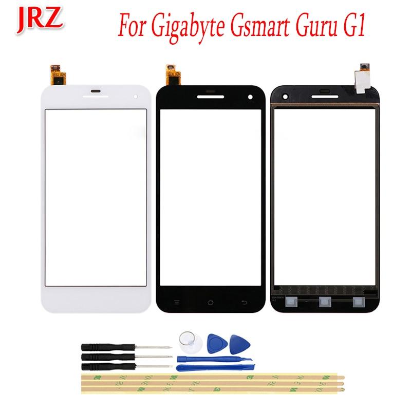 JRZ Lente de Cristal frontal de pantalla táctil de teléfono de 5,0 pulgadas para Gigabyte Gsmart Guru G1 Sensor de Panel táctil reemplazo del digitalizador con herramientas