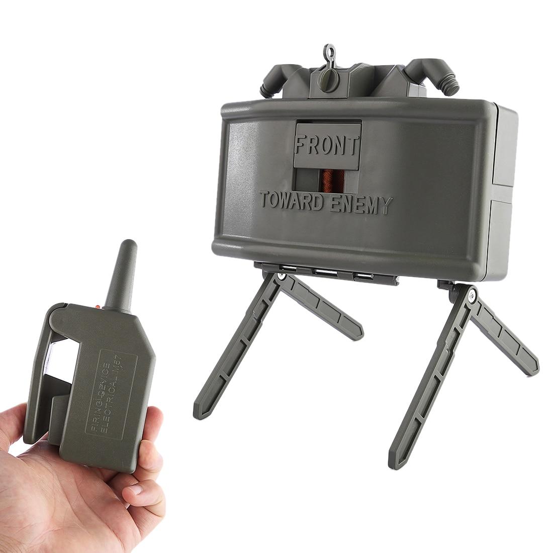 جهاز تحكم عن بعد كهربائي Claymore ، مشبك خرز ماء ، قنبلة رصاصة مائية خارجية ، معدات CS ، أخضر