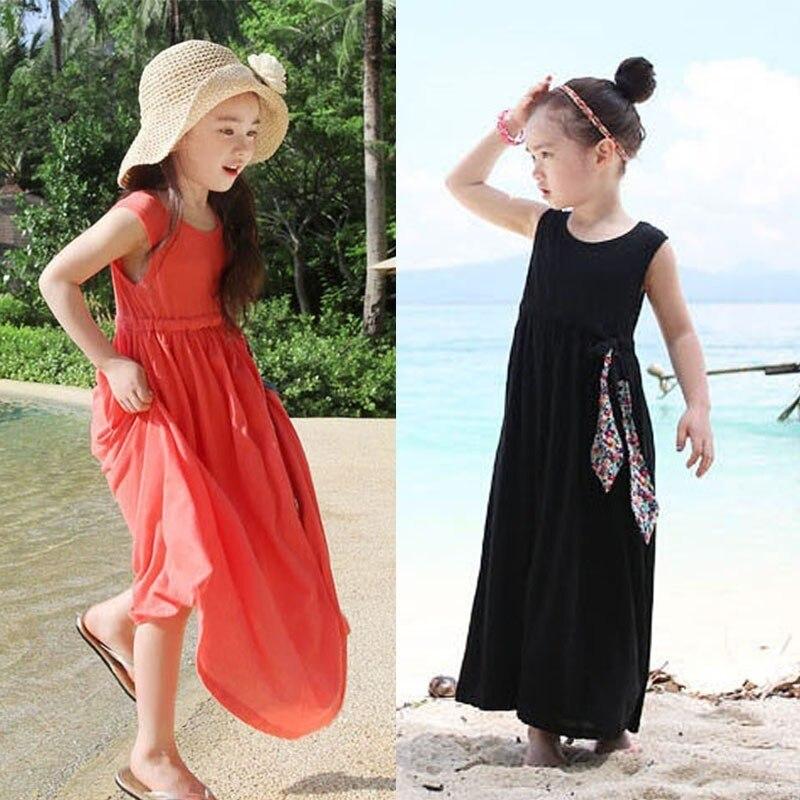 Mãe e filha roupas de verão vestido menina 7 anos meninas tamanho 8 vestidos 10 12 14 16 18 férias adolescente crianças roupas