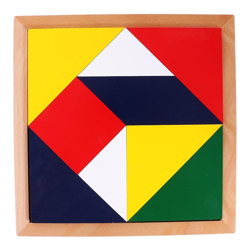 Rompecabezas geométrico de madera, juego de desarrollo intelectual, reconocimiento de forma de Color, juguetes educativos Montessori para niños pequeños
