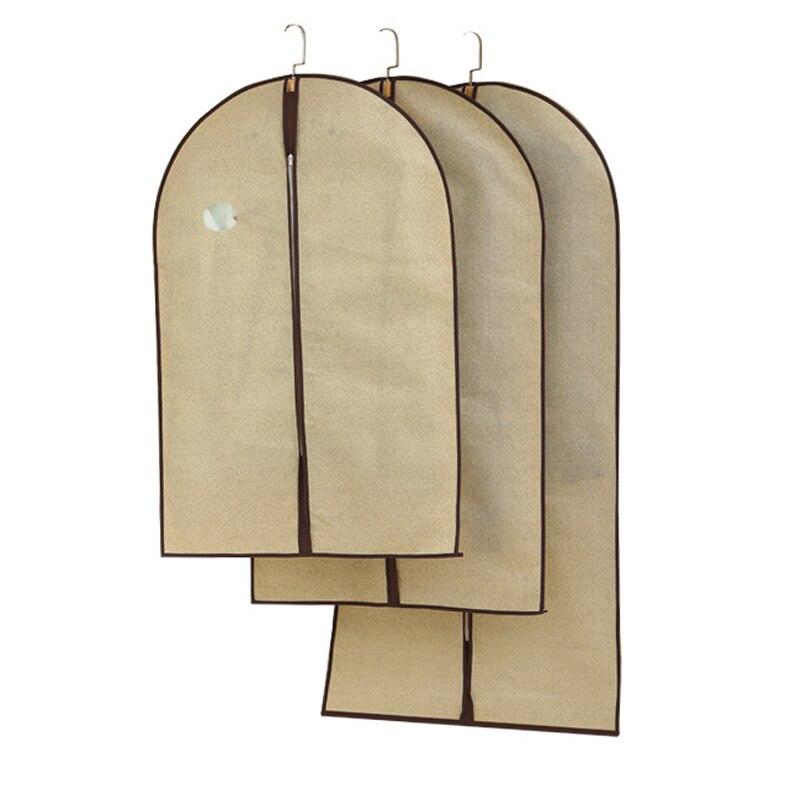 Capa protetor guarda-roupa saco de armazenamento caso para roupas trench coat vestido vestuário terno casaco capa poeira casaco de pele saco de armazenamento jf005