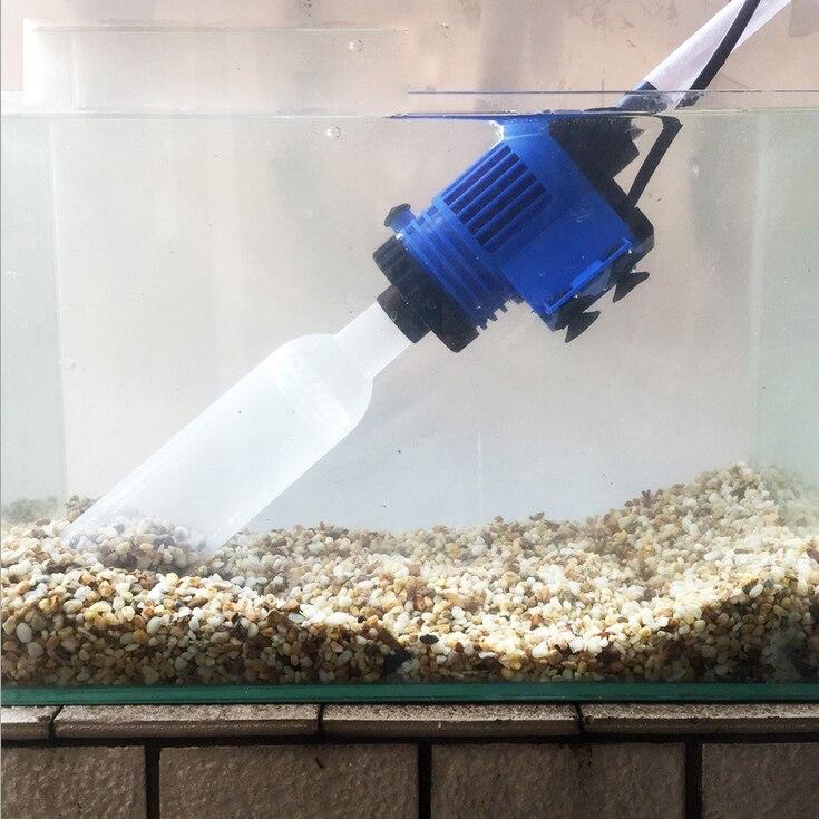 Bomba cambiadora de agua de acuario automática para cambiar el agua del tanque de peces, herramientas limpiadoras de grava, filtro de lavadora de arena, manguera de agua