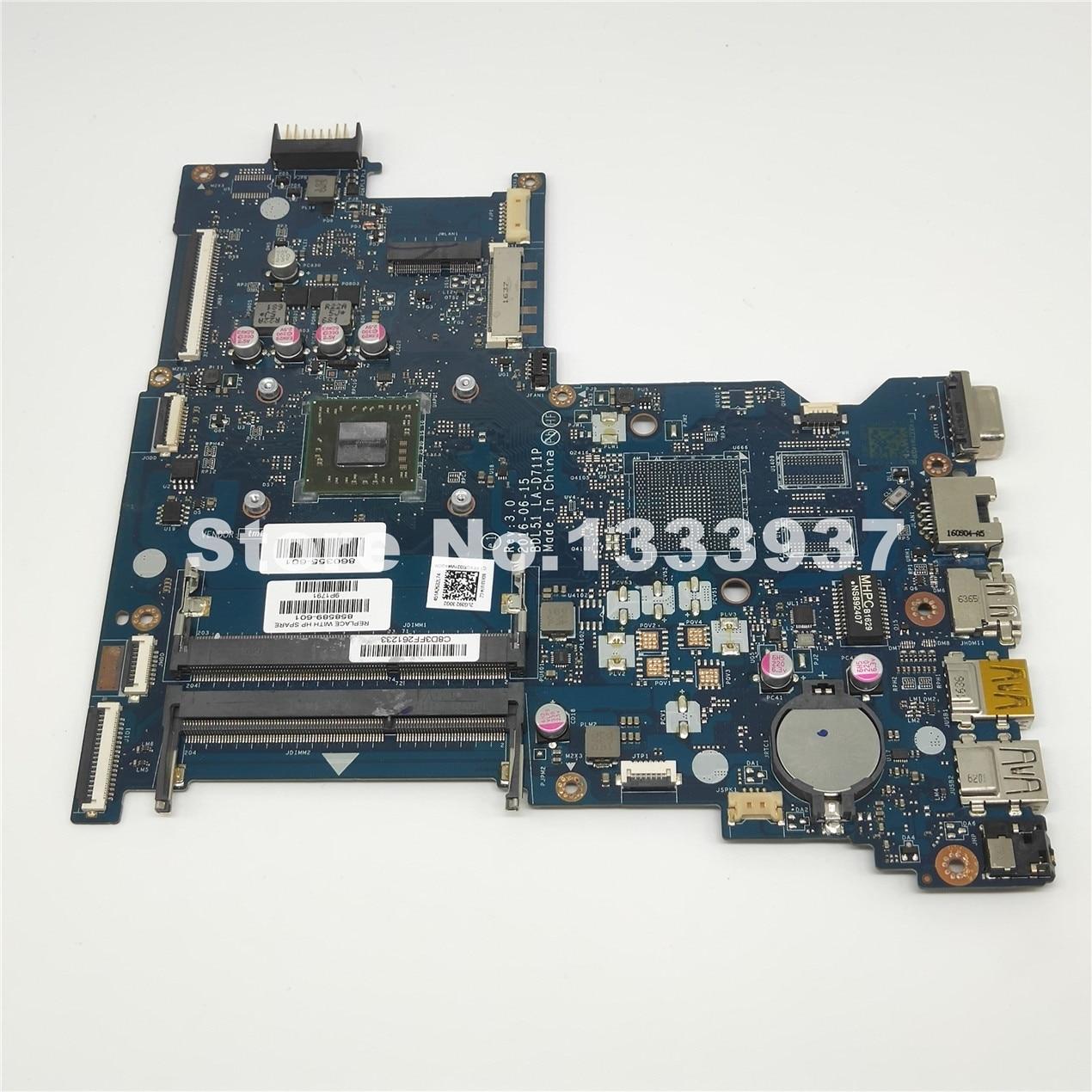858589-601 860355-601 MAINBOARD PARA HP 255-G5 255 G5 15-BA BDL51 LA-D711P 858589-001 15Z-BA Laptop Motherboard 858589-501